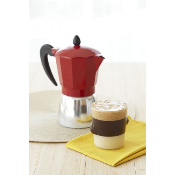 IMUSA Aluminum Coffeemaker 3 Cup, Red