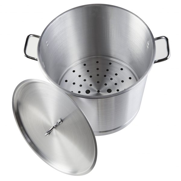 IMUSA Steamer with Aluminum Lid 52 Quart, Silver