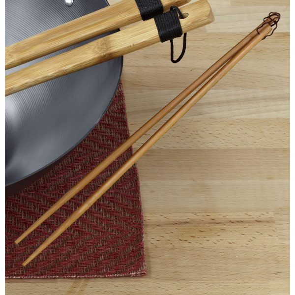 IMUSA Bamboo Cooking Chopsticks 33 cm, Tan