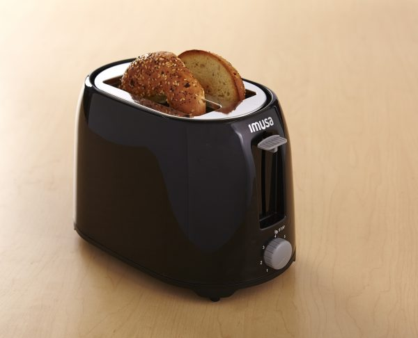 IMUSA Electric Basic Toaster 2 Slices 800 Watts, Black