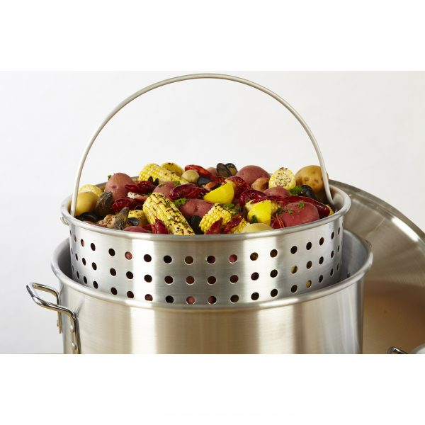 IMUSA 2 Piece Steamer Set with Basket 80 Quart/10 Quart