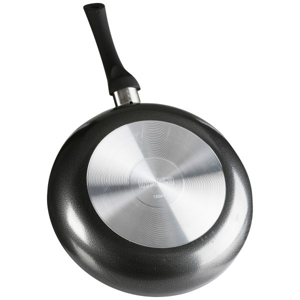 IMUSA Nonstick Saute Pan with Soft Touch Handle 10 Inch, Charcoal