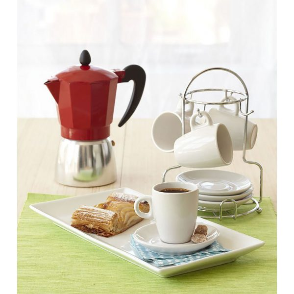 IMUSA Aluminum Coffeemaker 6 Cup, Red