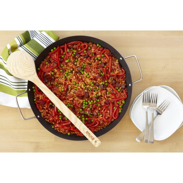 IMUSA Carbon Steel Paella Pan with Metal Handles 13 Inch