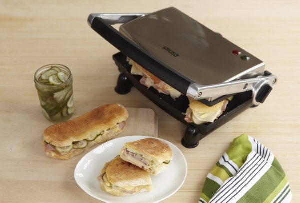 IMUSA Electric Stainless Steel Nonstick Panini Press 1000 Watts