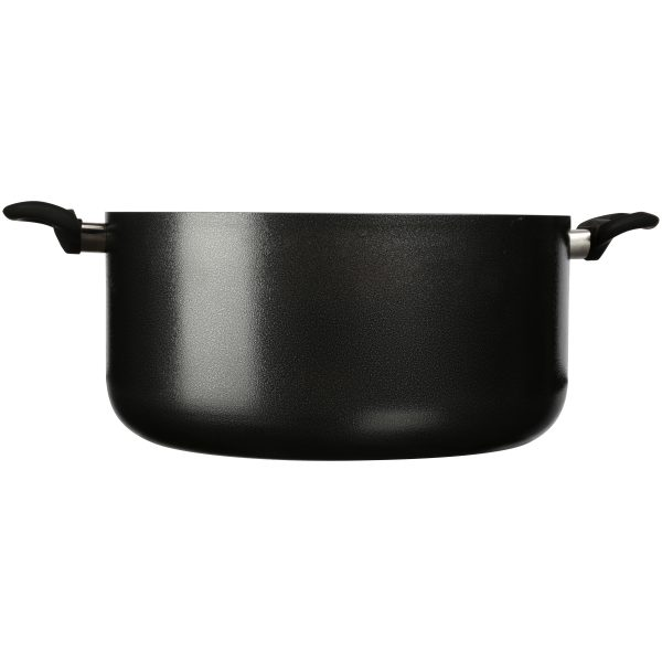 IMUSA Nonstick Dutch Oven with Glass Lid 12.7 Quart, Charcoal