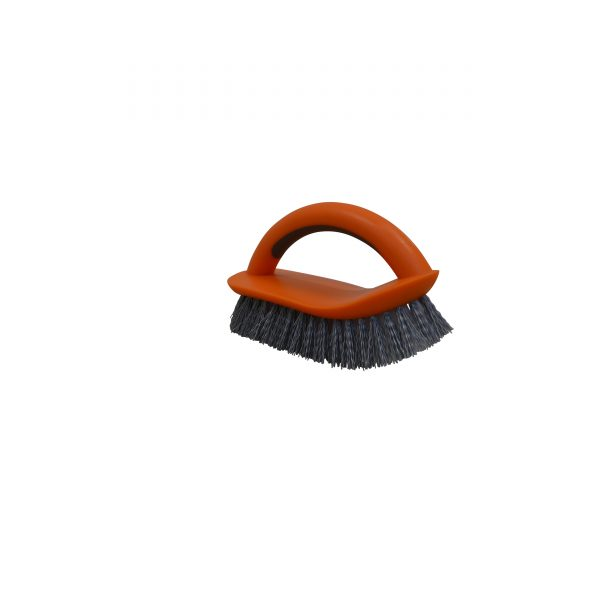 IMUSA Multipurpose Brush with Dual Tone Bristles, Orange/White/Grey