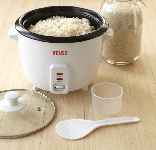 IMUSA Electric Nonstick Rice Cooker 3 Cup 300 Watts, Black