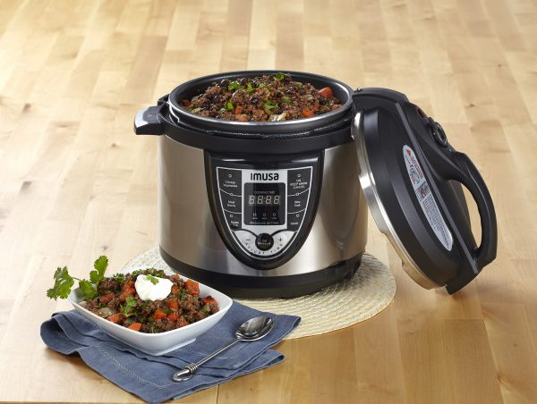 IMUSA Electric Stainless Steel Nonstick Digital Pressure Cooker 5 Quarts