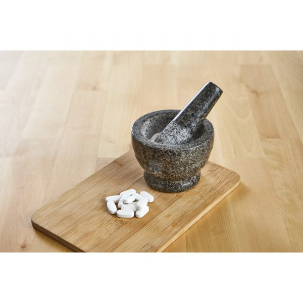 IMUSA Polished Granite Mortar and Pestle 3.75 Inches, Black