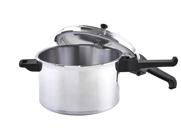 IMUSA Stovetop Natural Finish Basic Pressure Cooker 7.2 Quarts, Silver