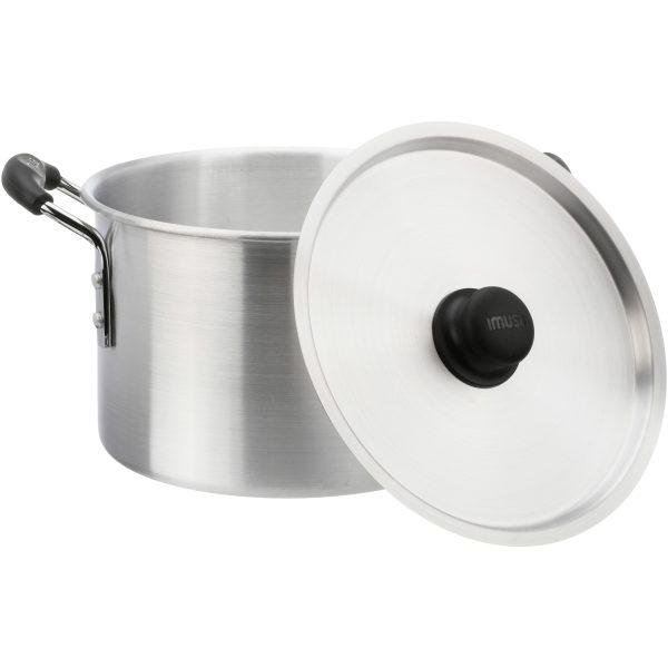 IMUSA Aluminum Stock Pot with Lid 8 Quart