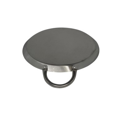 """IMUSA 8.5"""" Stainless Steel Round Comal w/ Metal Handles"""