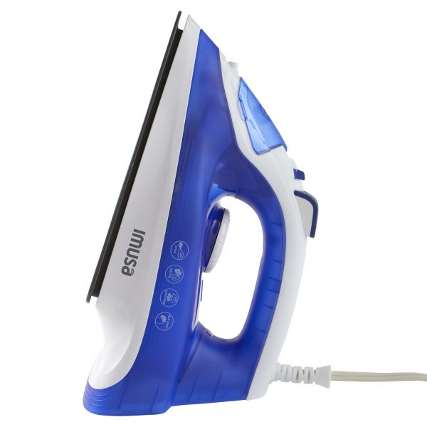 IMUSA Steam Iron with Ceramic Soleplate, Blue/White