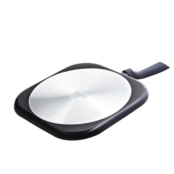 IMUSA Blue Diamond Ceramic Square Flat Griddle with Soft Touch Handle, 11 inch
