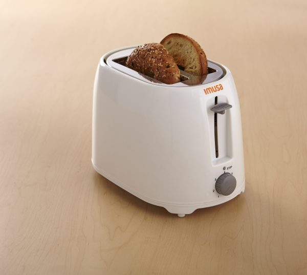 IMUSA Electric Basic Toaster 2 Slices 800 Watts, White