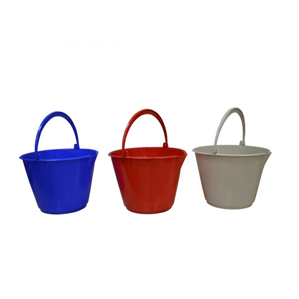 IMUSA Cleaning Bucket 10 Liters, Blue/Tan/Red