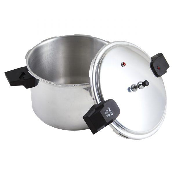 IMUSA Stovetop Natural Finish Basic Pressure Cooker 16 Quarts, Silver