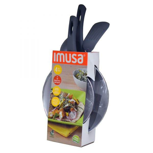 IMUSA 2 Piece Ceramic Nonstick Saute Pan Set with Soft Touch Handles, Grey