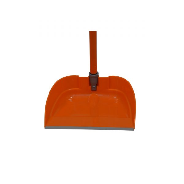 IMUSA Retractable Dustpan with Metal Handle, Orange