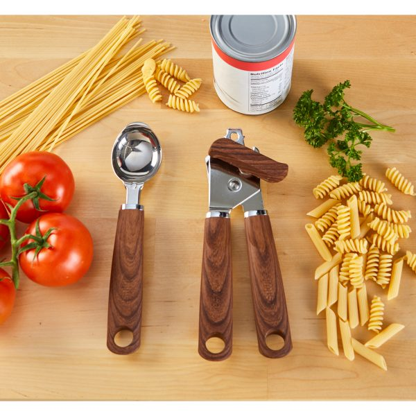IMUSA Can Opener with Woodlook Handle